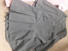 2 Grey M&S School Skirts Age 4-5 Yrs, Grey Dress & George Age 5-6 Yrs