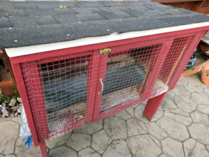 Bunny cage - new roof, very sterdy and heavy.