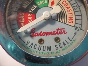 VINTAGE GASOMETER MADE BY SPEEDOMETER CO MONT CLAIR NJ