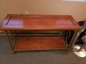 Wood and Metal Console Table / Hall Table
