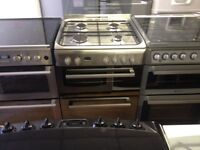 Stainless steel gas cooker (double oven)