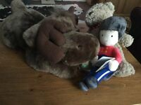 Kids babies stuffed toys bear soldier and moose