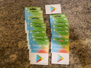 $50 GOOGLE PLAY CARDS