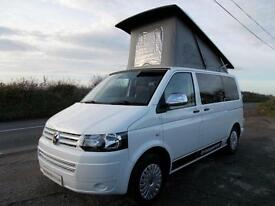 VW T5 Transporter 4 Berth Camper with Elevating Roof Low Miles