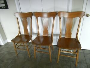 Set of 3 Antique Chairs