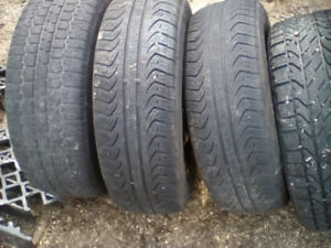 Tires and rims off a 2005 Pontic Pursuit and 1 pair 17s