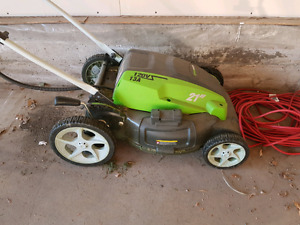 Electric mower and extension cord
