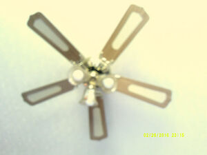 two rustic ceiling Fans