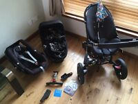 Quinny moodd limited edition BRITTO complete travel system plus baby pod car seat buggy pushchair