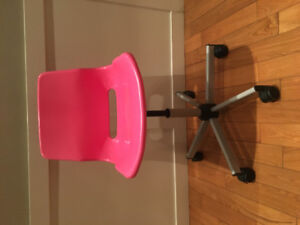 Pink spinny chair from ikea