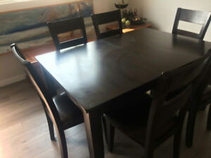 Mango Wood Dining Table 6 Chairs