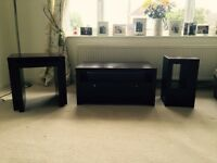 TV unit, nest of tables and side table
