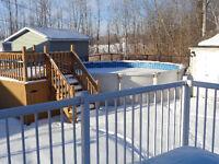 piscine 21' thermopompe et patio
