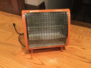 Vintage Radiant Portable Space Heaters - GE and Black And Decker
