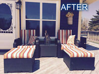 Patio CUSHION RECOVERING.....Take your Cushions from DRAB to FAB