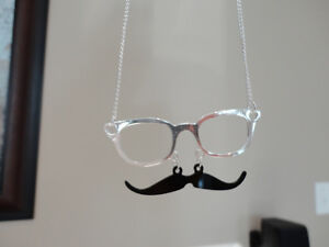Selling 9 Mustache Glasses Silver Fashion Jewellery Necklaces Kitchener / Waterloo Kitchener Area image 1