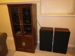 Stereo with cabinet