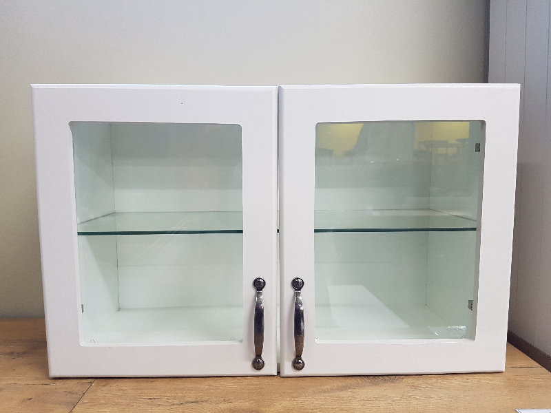 Brand New Small Maidstone Kitchen Wall Mounted Glass Door Cabinet