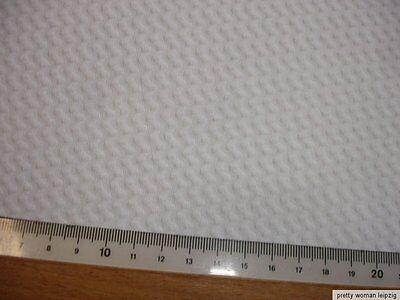 0,5 Lfm Jersey 3,15€/m² weiß mit ALOE VERA 208cm breit KA90