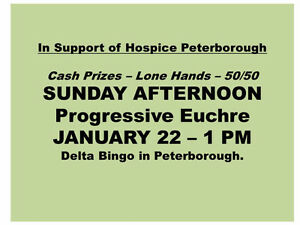 Euchre tournament in support of Hospice Peterborough Peterborough Peterborough Area image 1