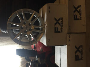 "Four 2008 17"" OEM  Nissan Altima Coupe SR Rims"