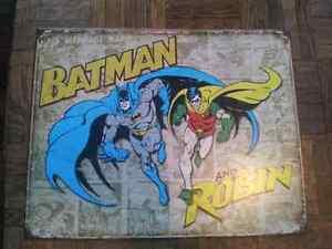 Batman and Robin metal sign