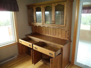 ► DINING ROOM HUTCH (HANDCRAFTED)
