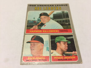 1970 OPC BASEBALL#64 HARMON KILLEBREW REGGIE JACKSON LEADERS A'S