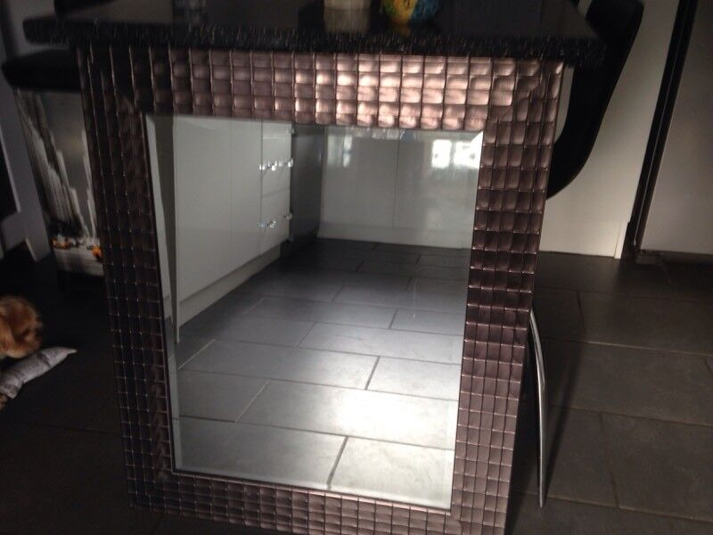 Metallic copper mirror