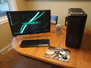 """Gaming Computer w/ 27"""" LCD, Keyboard, Mouse - AMD FX / GTX670"""