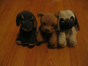 3 Plush Dogs by Russ