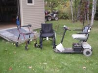 wheel chair, walker and scooter