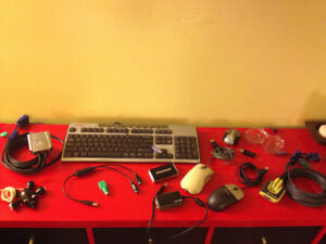 Computer Equipment Galore (Webcam, keyboards, mice, KVM switches