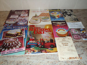 Cake decorating books and decor