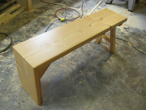 Homemade new solid wood waterfall design bench