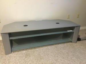 Grey silver TV stand