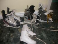 SEVERAL PAIRS OF ICE SKATES