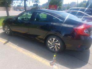 2016 Honda Civic Ex - Black 4 Door Sunroof