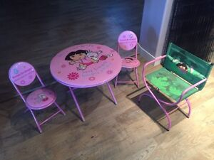 Child's Dora Table & Chairs