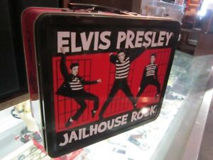 """ELVIS PRESLEY """"JAIL HOUSE ROCK"""" Collectible Tin Lunch Box"""