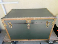 LARGE STEAMER TRUNK FROM GRAMPS ESTATE