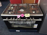 KENWOOD 90CM BRAND NEW DUAL FUEL RANGE STYLE COOKER IN BLACK