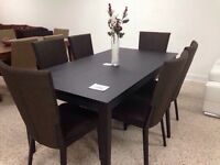 Dining table in massif wood & 6 chairs for only 699$