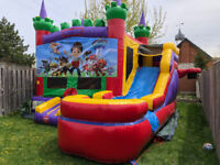 Bounce Houses Rentals, with slide, cotton candy, tents for rent