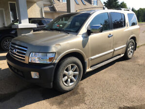 2004  Infiniti QX 56 Gold seven seater for sale $1500 OBO