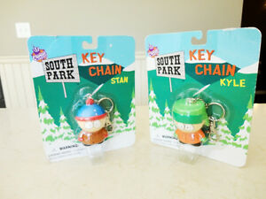 New Unopened South Park Solid Resin Keychains -Stan and Kyle Kitchener / Waterloo Kitchener Area image 1