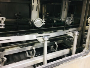 Stainless tray/dish/container  wash conveyor just in