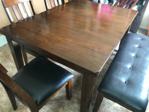 Kitchen Table with 4 chairs and a Bench
