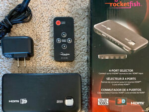 2 x Rocketfish RF-G1185 4-Port HDMI Selectors - $40 takes both!!