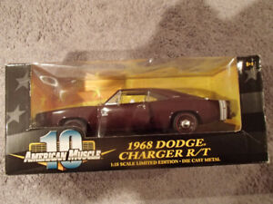 1:18 SCALE DIE-CAST AMERICAN MUSCLE 1968 DODGE CHARGER R/T
